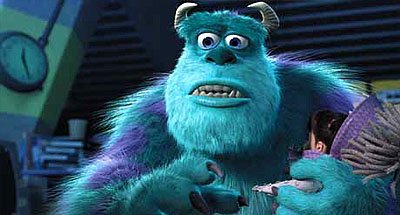James P. Sullivan ( John Goodman ) with Boo ( Mary Gibbs ) in Disney's Monsters, Inc.