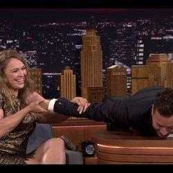 It Only Took Ronda Rousey 6 Seconds To Make Jimmy Fallon Submit