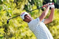 Matteo Manassero of Italy tees off during third round of the Barclays Singapore Open at the Sentosa Golf Club in Singapore on November 10, 2012. Manassero holed a 12-foot eagle putt on the third play-off hole to claim a dramatic victory over South Africa&#39;s Louis Oosthuizen at the Singapore Open on Sunday