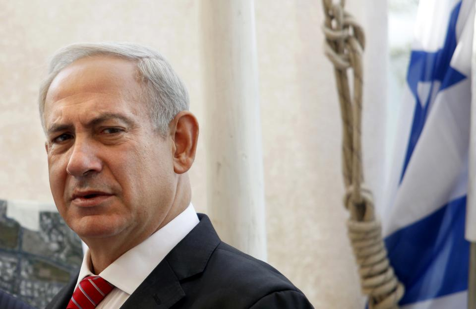 Israeli Prime Minister Benjamin Netanyahu visits the east Jerusalem Jewish neighborhood of Gilo, Tuesday, Oct. 23, 2012. Netanyahu vowed on Tuesday to continue building in the Jerusalem district days after European Union criticism because it is claimed by Palestinians.(AP Photo/Gali Tibbon, Pool)