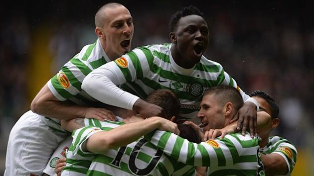 Celtic celebrate title