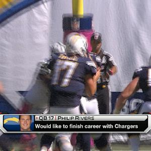 San Diego Chargers quarterback Philip Rivers would like to finish his career with the Chargers