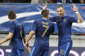France 4-0 Estonia: Benzema and Ribery star as Blanc's men turn on the style ahead of England clash