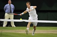 Andy Murray, pictured on July 8, insists the prospect of returning to Wimbledon to compete for an Olympic medal has eased his heartache in the aftermath of his emotional final defeat against Roger Federer
