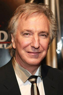 Alan Rickman at the New York City premiere of DreamWorks Pictures' Sweeney Todd: The Demon Barber of Fleet Street