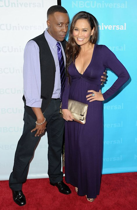 Arsenio Hall and Tia Carrere (&quot;Celebrity Apprentice&quot;) attend the 2012 NBC Universal Winter TCA All-Star Party at The Athenaeum on January 6, 2012 in Pasadena, California. 