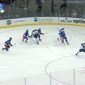 Pavelec makes great save on Stepan charge