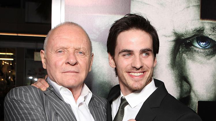 The Rite LA Premiere 2011 Anthony Hopkins Colin O'Donoghue