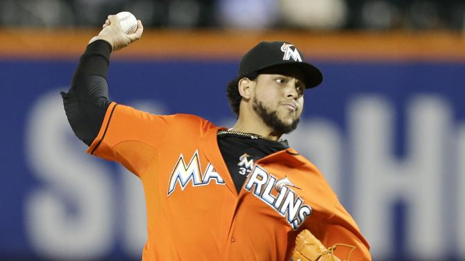 Alvarez pitches Marlins to 4-3 win over Mets