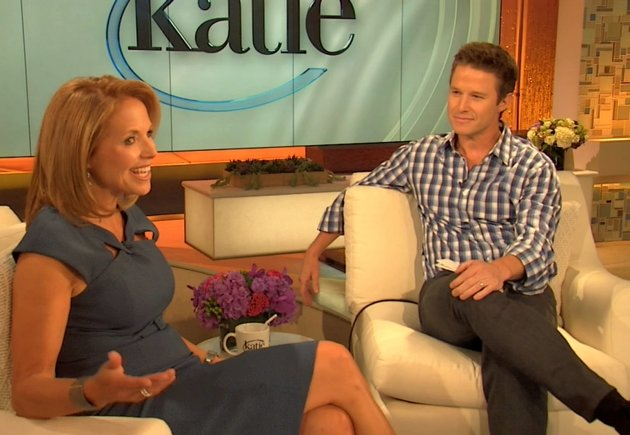 Katie Couric and Billy Bush, New York, Sept. 10, 2012 -- Access Hollywood