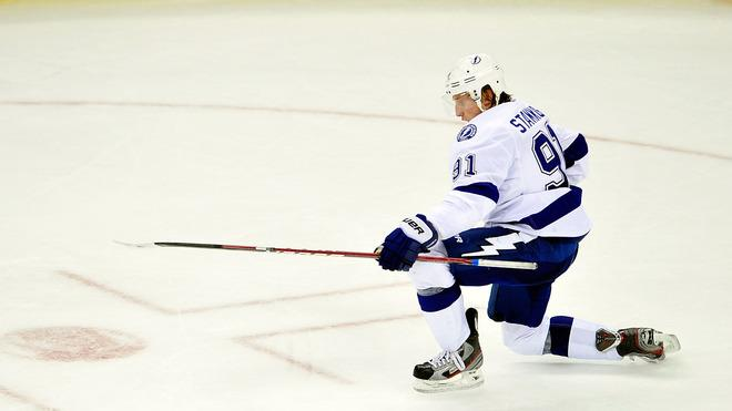 Steven Stamkos #91 Of The Tampa Bay Lightning Celebrates Getty Images