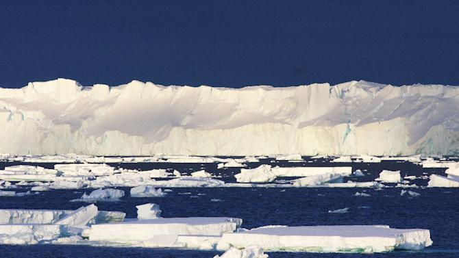 Largest glacier in East Antarctica, the 120 km long and more than 30 km wide Totten Glacier, pictured in this file photo