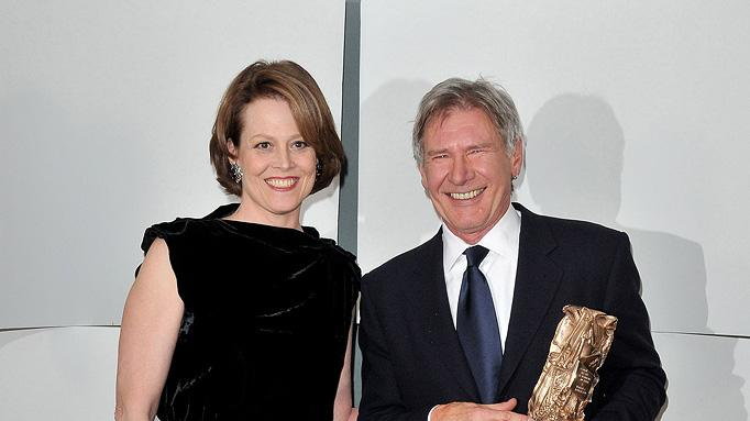 35th Cesar Film Awards 2010 Harrison Ford Sigourney Weaver