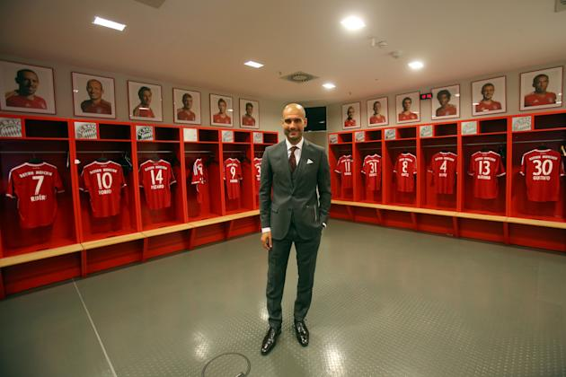 FC Bayern Muenchen Presents New Head Coach Josep Guardiola
