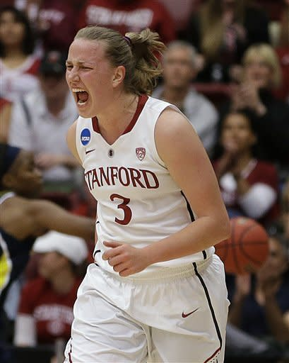 Top-seeded Stanford women rout Michigan 73-40