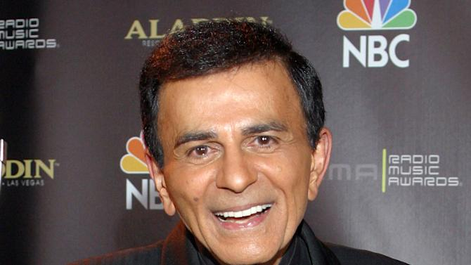 FILE - In this Oct. 27, 2003 file photo, Casey Kasem poses for photographers after receiving the Radio Icon award during The 2003 Radio Music Awards at the Aladdin Resort and Casino in Las Vegas. A judge has expanded the powers of Casey Kasem's daughter to determine whether her father is receiving adequate medical care and says he still has concerns about the ailing radio personality's health and welfare. On Tuesday, May 20, 2014, Los Angeles Superior Court Judge Daniel Murphy ordered Kasem's wife to comply with court orders allowing doctors to evaluate her husband, and also be seen by his daughter Kerri. (AP Photo/Eric Jamison, File)