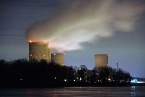 Three Mile Island nuclear power plant is seen across…