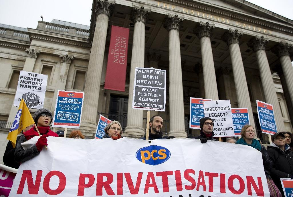 Staff at Britain's National Gallery go on strike over privatisation