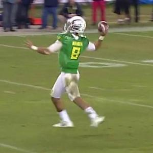 UCLA head coach Jim Mora Jr. on Oregon quarterback Marcus Mariota: 'Bigger, faster, stronger Aaron Rodgers'