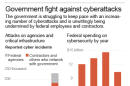 01 A.M. MONDAY, NOV. 10. Charts on government cybersecurity.; 2c x 6 inches; 96.3 mm x 152 mm;