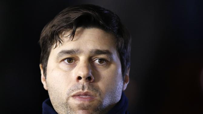 Tottenham Hotspur's manager Pochettino reacts during their Capital One Cup semi final second leg soccer match against Sheffield United at Bramall Lane in Sheffield