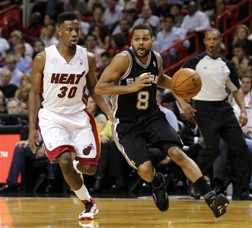Allen, Heat top short-handed Spurs 105-100