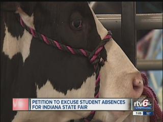 Indiana Association of Fairs wants student excused from school to participate in fairs