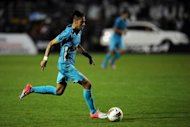 Brazil&#39;s Neymar during a Copa Libertadores football match in Sao Paulo in June. Brazil kick off their latest attempt to win their Holy Grail of Olympic footballing gold on Thursday as their star-studded side take on Egypt in Cardiff