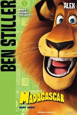 Alex the Lion (voice of Ben Stiller ) in Dreamworks' Madagascar