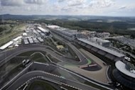 Aerial view of the new Nurburgring racetrack in 2009. Germany&#39;s iconic Formula One track, the Nurburgring, is 13 million euros (10.2 million, $16 million) in debt and is poised to enter administration, the circuit&#39;s majority shareholder disclosed Wednesday