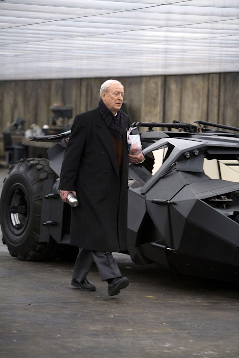 Michael Caine Batman The Dark Knight Production Warner Brothers 2008