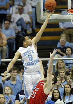 No. 14 North Carolina beats Davidson 97-85 in OT