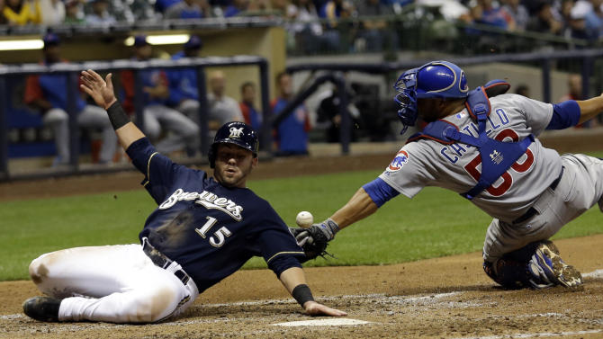 Gindl, Peralta lead Brewers to 6-1 win over Cubs