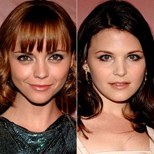 Christina Ricci and Ginnifer Goodwin wearing silver eye liner