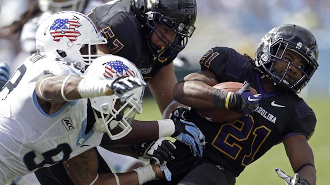 East Carolina rolls past North Carolina 55-31