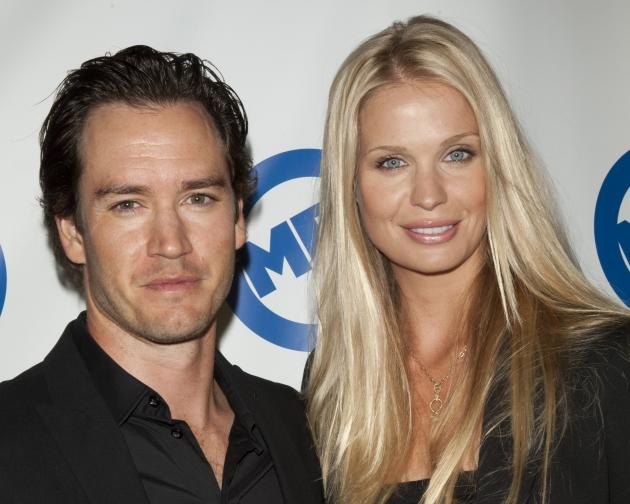 Mark-Paul Gosselaar and Catriona McGinn attend the Liberty Bell Ball at The Playboy Mansion on July 7, 2011 in Beverly Hills -- WireImage
