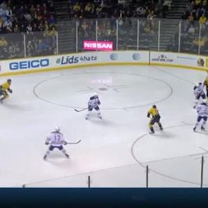 Viktor Fasth Save on Roman Josi (01:02/3rd)
