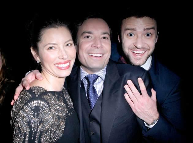 Jessica Biel, Jimmy Fallon, and Justin Timberlake  -- Getty Premium