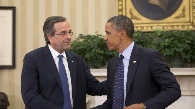 Obama calls on Greece to balance growth, austerity