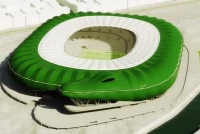 Turkish soccer team's new stadium is a giant green crocodile