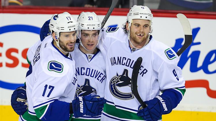 NHL: Vancouver Canucks at Calgary Flames
