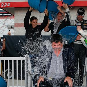 Mike Helton takes the Ice Bucket Challenge