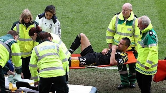 John Terry was stretchered off against Aston Villa at the weekend