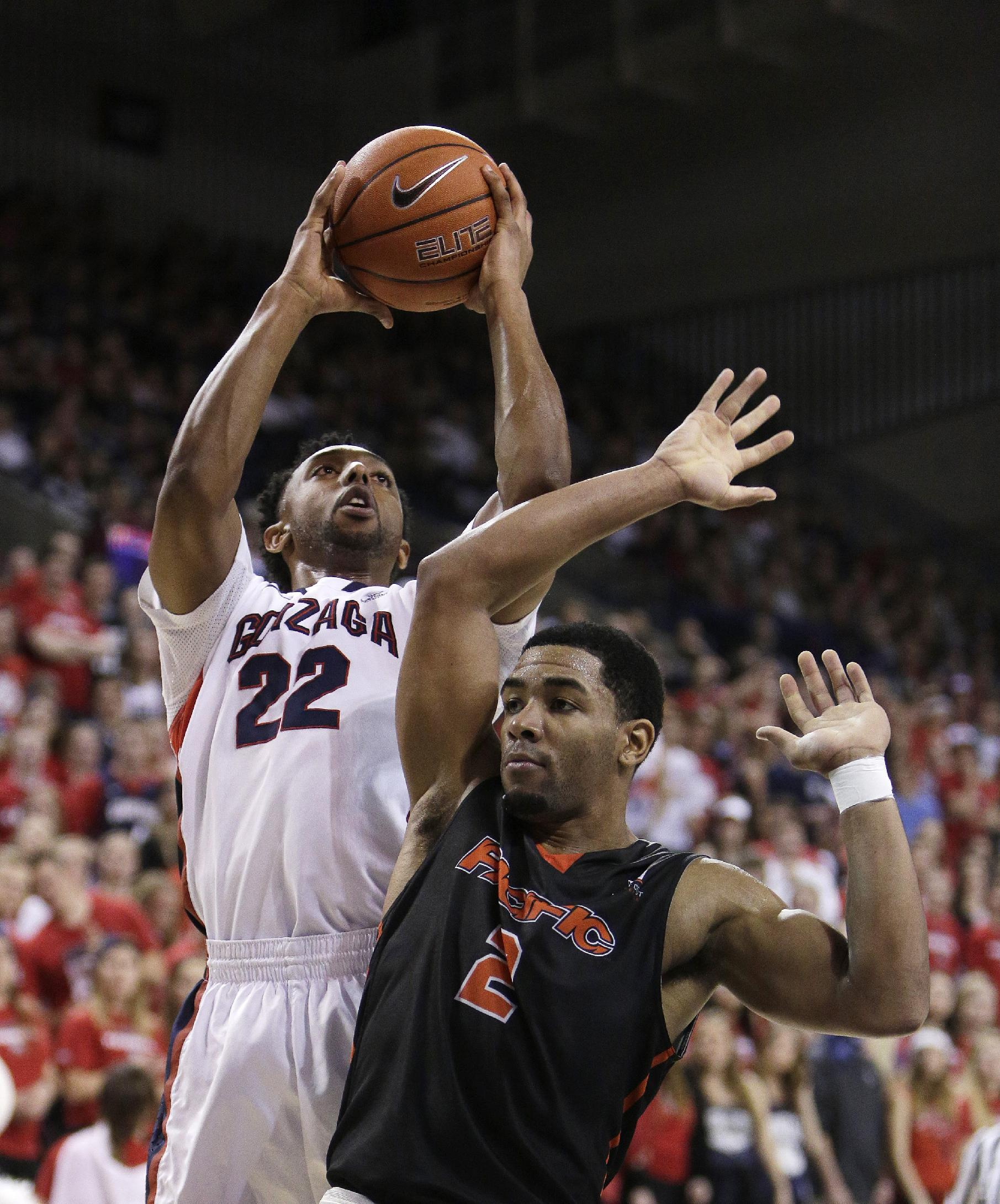 No. 3 Gonzaga tops Pacific 91-60, wins 36th straight at home