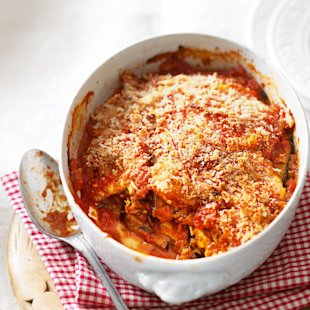 Aubergine Parmigiana