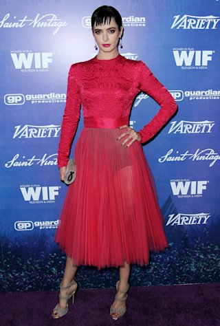 Krysten Ritter attends the Variety and Women in Film Pre-Emmy Event at Scarpetta on Friday, Sept. 21, 2012, in Beverly Hills, Calif. (Photo by Matt Sayles/Invision/AP)