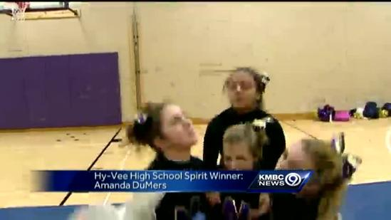 Cheerleading coach, nurse wins Hy-Vee Spirit Award