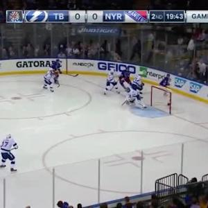 Ben Bishop Save on Marc Staal (00:18/2nd)