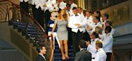 This happens whenever Mariah walks down a staircase. (Ryan Green)