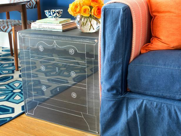 Chalkboard End Table